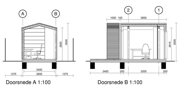 bouwtekening tuinhuisje